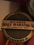 ATL Half Marathon Medal