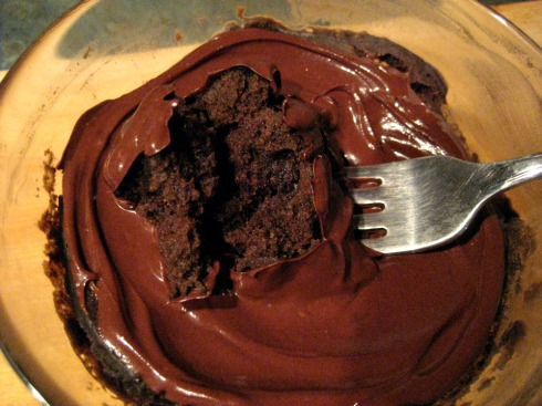 Single Serve Chocolate Cake