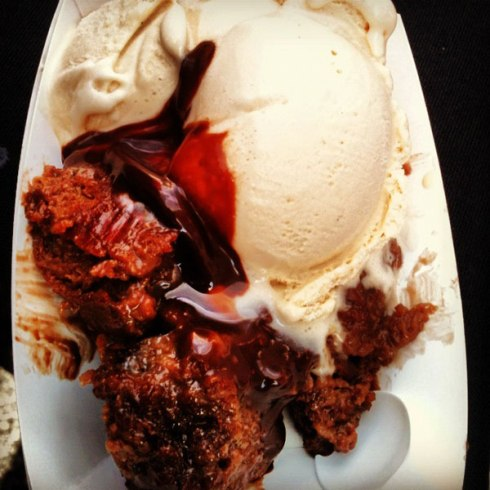 High Road Craft Bourbon Burnt Sugar Ice Cream with Chocolate Bread Pudding | HungryReadhead.com