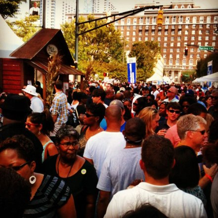 Crowd at Taste of Atlanta 2012