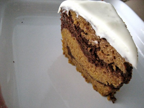 Chocolate Pumpkin Marble Cake | Adventures of a Hungry Redhead