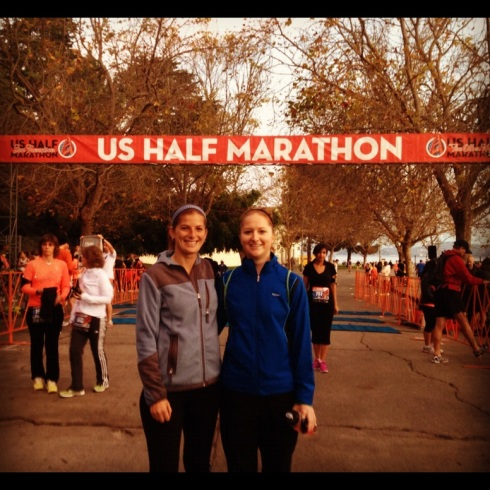Erin & Al at U.S. Half Marathon | Adventures of a Hungry Redhead