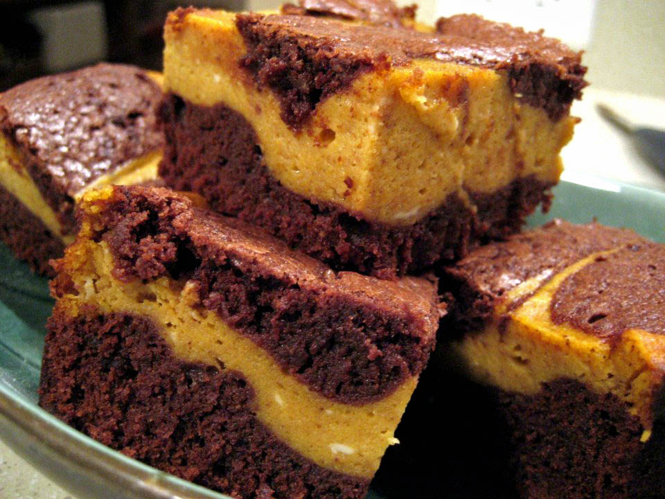 Pumpkin Cheesecake Brownies | Adventures of a Hungry Redhead