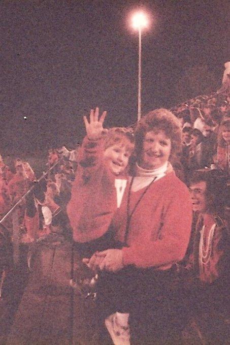 Red and Mom at Pep Band