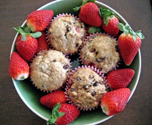 Strawberry Chocolate Chip Muffins | Adventures of a Hungry Redhead