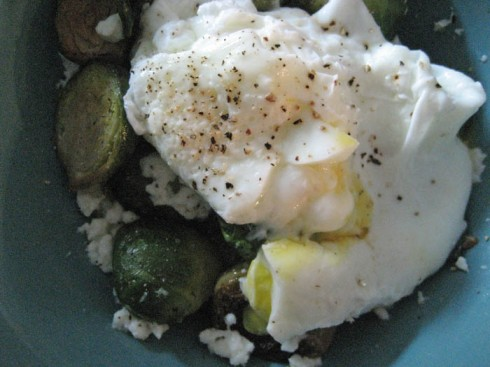 Adventures of a Hungry Redhead | Poached Eggs and Brussels Sprouts