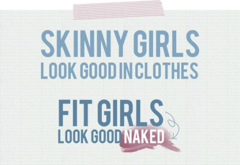 Skinny Girls Fit Girls