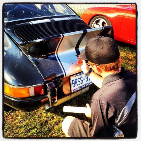 Patrick Signs a Porsche