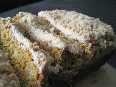 Pumpkin Bread with Crumb Topping | Adventures of a Hungry Redhead